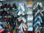 Brochas, espátulas, rodillos y cinta carrocero